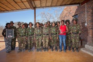 The Black Mambas, an anti-poaching unit that consists mainly of women. They were honoured as Best Conservation Practitioner by the Rhino Conservation Awards.