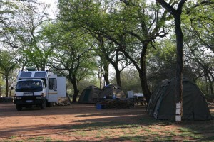The campsite at Hlane Royal National Park.