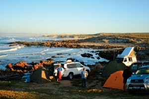 You can't camp closer to the sea than this. Picture by Romi Boom