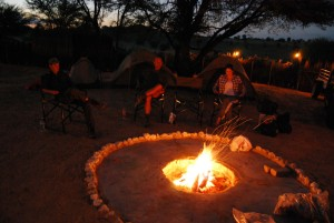 Kgalagadi campfire by Kate Collins