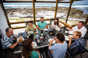 Breakfast on the deck at Lagoon House in the Agulhas National Park. Photo by Kobus Tollig.