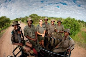 Section ranger Sandra Basson with her team.