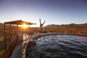 Cool off in the swimming reservoir at the main camp of Vrede.