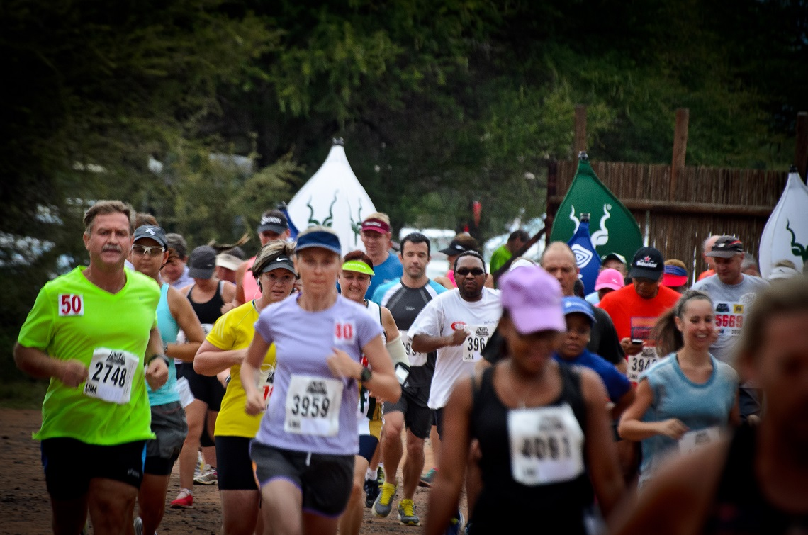 Runners challenge themselves over marathon and half-marathon distances in the Marakele National Park.