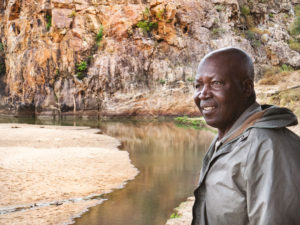 Master tracker Samuel Mathebula camps out for days at a time.